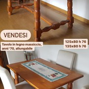 Tavolo legno massiccio